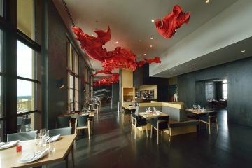 The top floor restaurant at Four Seasons Hotel Disney World Resort, Florida