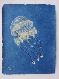 Jelly Fish 1 75 x 57 cm, in the studio
