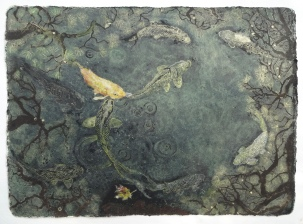 Nine Treasures 102 x 141 cm, in the studio