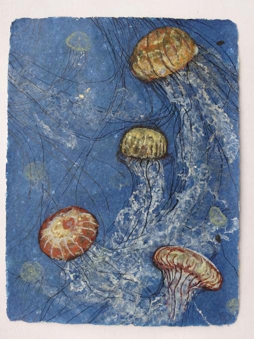 Jellies 4 75 x 57 cm, in the studio