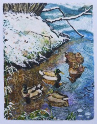 Winter for Ducks 104 x 79 cm, in China now