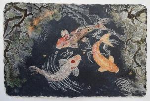 As Water 61 x 92 cm, in studio